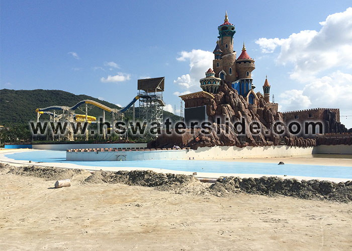 Water park equipment: wave pool, water slides, water play, spiral water slide, etc.